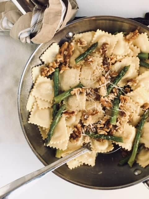 ravioli with walnuts
