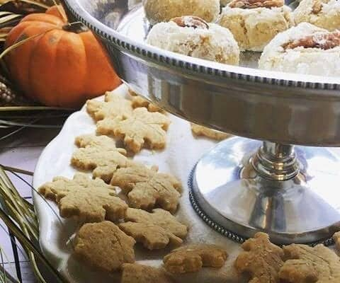 Fall Shortbread Cookies (one dough, 2 cookies)