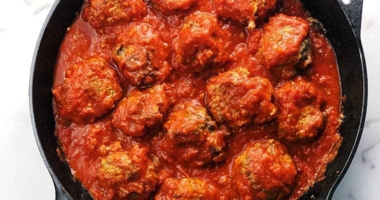 Italian Oven Baked Meatballs With Pasta