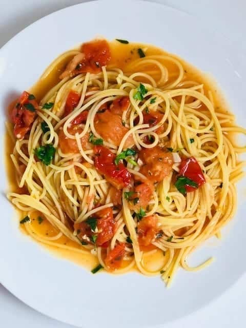 Pasta with Tomatoes and Anchovy Butter