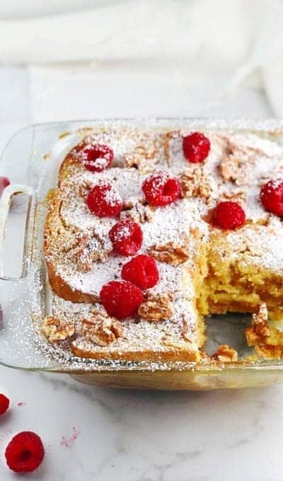 Baked French Toast Casserole with Sweetened Condensed Milk