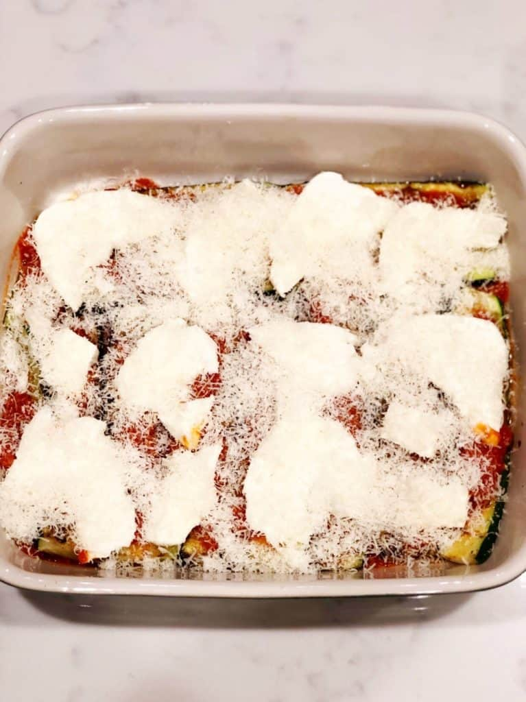 zucchini with toppings