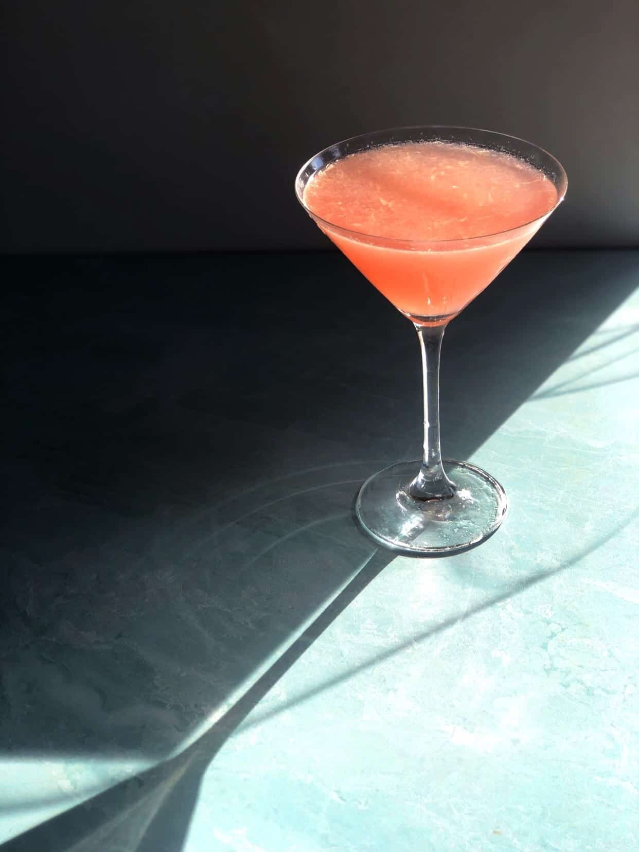 The Miami Vice – A  Rhubarb Cocktail