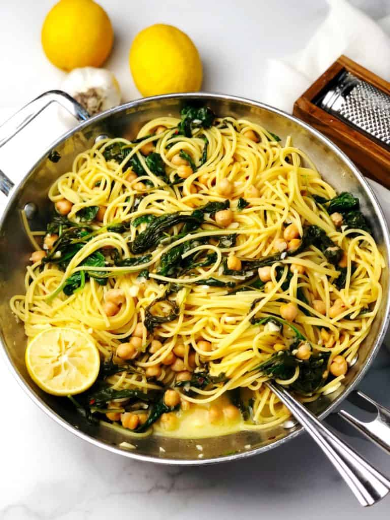 pasta with lemons and chickpeas