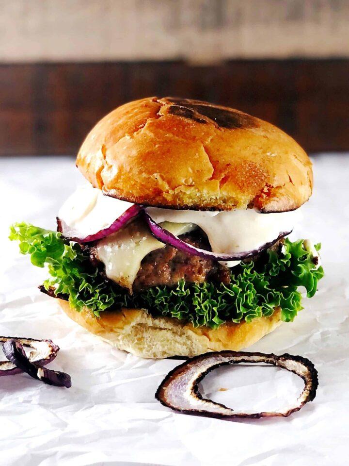 chorizo and pork burger